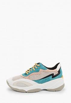Кроссовки, Geox, цвет: бежевый. Артикул: GE347AWIEDA1.