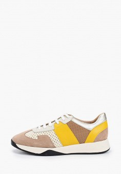 Кроссовки, Geox, цвет: бежевый. Артикул: GE347AWIEDA4.