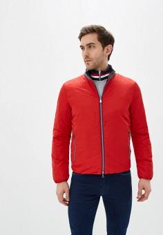 Куртка утепленная, Geox, цвет: красный, синий. Артикул: GE347EMIECW7.