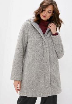 Шуба, Geox, цвет: серый. Артикул: GE347EWKKRT7. Одежда / Верхняя одежда / Шубы и дубленки