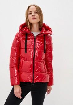 Куртка утепленная, Geox, цвет: красный. Артикул: GE347EWKKRW5.
