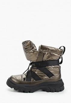Дутики, Gene, цвет: коричневый. Артикул: GE632AWGBGN4. Обувь / Сапоги / Дутики