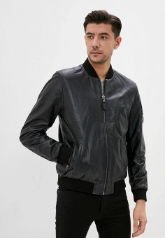 Куртка кожаная, Giorgio Di Mare, цвет: синий. Артикул: GI031EMJDKV4. Одежда / Верхняя одежда