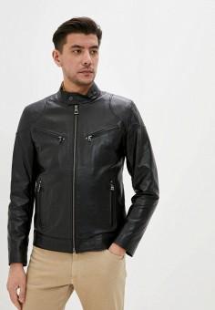 Куртка кожаная, Giorgio Di Mare, цвет: черный. Артикул: GI031EMJDKZ3. Одежда / Верхняя одежда