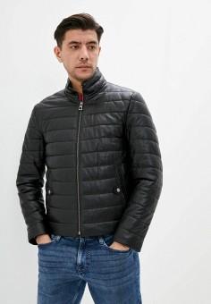 Куртка кожаная, Giorgio Di Mare, цвет: черный. Артикул: GI031EMJDKZ4. Одежда / Верхняя одежда / Кожаные куртки