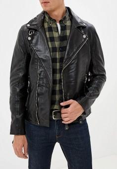 Куртка кожаная, Gipsy, цвет: черный. Артикул: GI038EMGJXM1. Одежда / Верхняя одежда