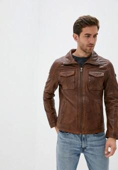 Куртка кожаная, Gipsy, цвет: коричневый. Артикул: GI038EMJTPW8. Одежда / Верхняя одежда / Кожаные куртки