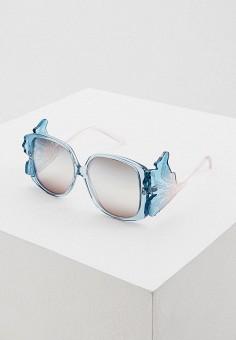 Очки солнцезащитные, Giorgio Armani, цвет: голубой. Артикул: GI636DWIXAP8. Аксессуары
