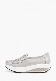 Мокасины, GLAMforever, цвет: серый. Артикул: GL854AWIARG8. Обувь / Мокасины и топсайдеры