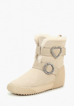 Полусапоги, Grand Style, цвет: бежевый. Артикул: GR025AWCFAE5. Обувь / Сапоги / Полусапоги