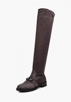Ботфорты, Grand Style, цвет: серый. Артикул: GR025AWCFBQ3. Обувь / Сапоги / Ботфорты