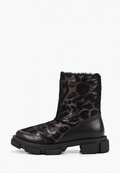 Полусапоги, Grand Style, цвет: коричневый, черный. Артикул: GR025AWGCBR3. Обувь / Сапоги / Полусапоги