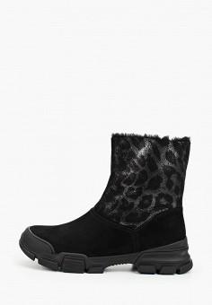 Полусапоги, Grand Style, цвет: черный. Артикул: GR025AWGCBR5. Обувь / Сапоги / Полусапоги