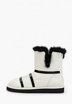 Полусапоги, Grand Style, цвет: белый, черный. Артикул: GR025AWGPZY6. Обувь / Сапоги / Полусапоги