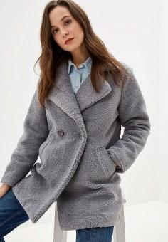 Шуба, Grand Style, цвет: серый. Артикул: GR025EWGDUQ9. Одежда / Верхняя одежда / Шубы и дубленки