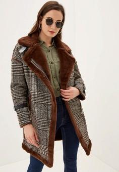 Пальто, Grand Style, цвет: коричневый. Артикул: GR025EWGDUS8. Одежда / Верхняя одежда / Пальто / Зимние пальто