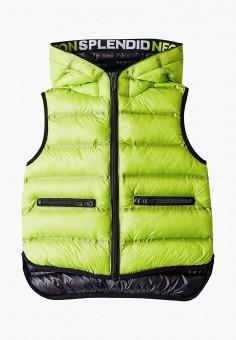 Жилет утепленный, Gulliver, цвет: зеленый. Артикул: GU015EBIBXT4.