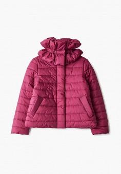 Куртка утепленная, Gulliver, цвет: розовый. Артикул: GU015EGFOEA0. Девочкам / Одежда / Верхняя одежда / Куртки и пуховики