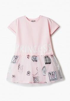 Платье, Gulliver, цвет: розовый. Артикул: GU015EGIBUV9. Девочкам / Одежда / Платья и сарафаны