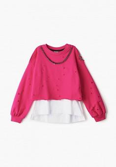 Твинсет, Gulliver, цвет: белый, розовый. Артикул: GU015EGIBXT7.
