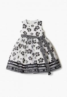 Платье, Gulliver, цвет: белый. Артикул: GU015EGIBYA4.