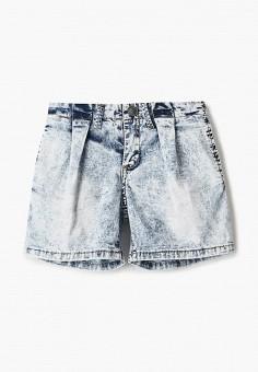Шорты джинсовые, Gulliver, цвет: голубой. Артикул: GU015EGJBAD8.