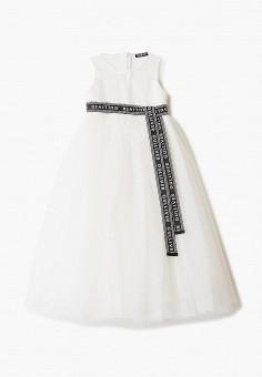 Платье, Gulliver, цвет: белый. Артикул: GU015EGJBAM3. Девочкам / Одежда / Платья и сарафаны