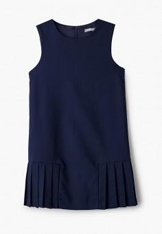 Платье, Gulliver, цвет: синий. Артикул: GU015EGJOWB2. Девочкам / Одежда / Платья и сарафаны