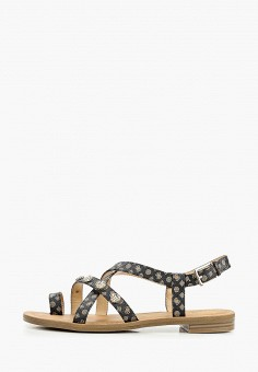 Сандалии, Guess, цвет: коричневый. Артикул: GU460AWHJGP2. Обувь / Сандалии