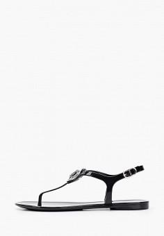 Сандалии, Guess, цвет: черный. Артикул: GU460AWHJGP4. Обувь / Резиновая обувь