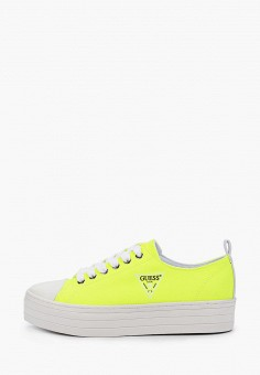 Кеды, Guess, цвет: желтый. Артикул: GU460AWIZKX9.