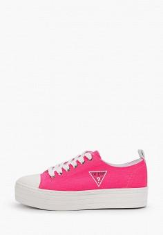 Кеды, Guess, цвет: розовый. Артикул: GU460AWIZLH3.
