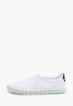 Слипоны, Guess, цвет: белый. Артикул: GU460AWJFIU2. Обувь / Слипоны