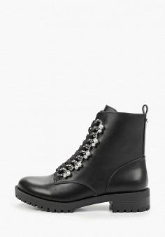Ботинки, Guess, цвет: черный. Артикул: GU460AWJTYT6. Обувь / Ботинки / Высокие ботинки