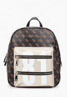 Рюкзак, Guess, цвет: коричневый. Артикул: GU460BWHJHQ8. Аксессуары / Рюкзаки / Рюкзаки