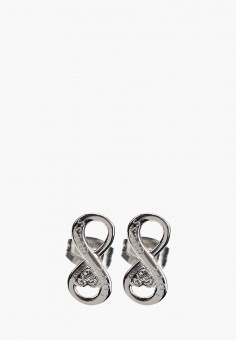Серьги, Guess, цвет: серебряный. Артикул: GU460DWHQKR2.