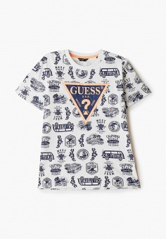 Футболка, Guess, цвет: белый. Артикул: GU460EBHJFX4. Мальчикам / Одежда