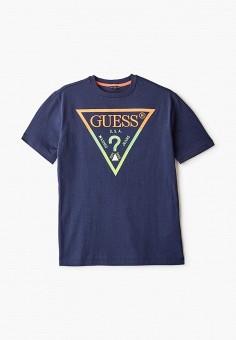 Футболка, Guess, цвет: синий. Артикул: GU460EBHJFX7.