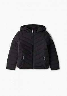 Куртка утепленная, Guess, цвет: черный. Артикул: GU460EBJUEF8.