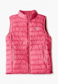 Жилет утепленный, Guess, цвет: розовый. Артикул: GU460EGJLDO4.