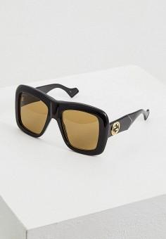 Очки солнцезащитные, Gucci, цвет: черный. Артикул: GU641DWFESJ1. Premium
