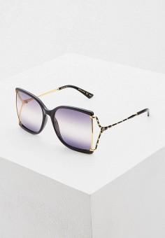 Очки солнцезащитные, Gucci, цвет: черный. Артикул: GU641DWHQPK0. Аксессуары