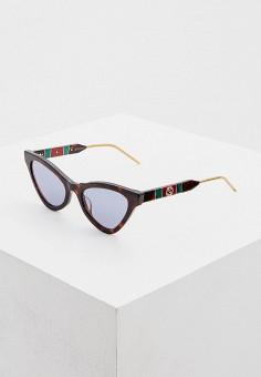 Очки солнцезащитные, Gucci, цвет: коричневый. Артикул: GU641DWHQPL0. Аксессуары