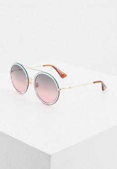 Очки солнцезащитные, Gucci, цвет: золотой. Артикул: GU641DWIHMI9. Premium