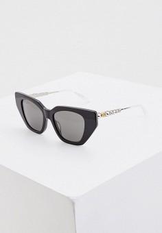 Очки солнцезащитные, Gucci, цвет: черный. Артикул: GU641DWIHMJ8. Premium