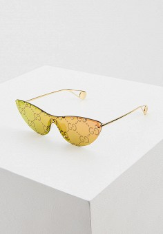 Очки солнцезащитные, Gucci, цвет: золотой. Артикул: GU641DWIHMK7. Premium