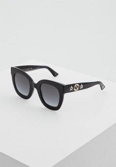 Очки солнцезащитные, Gucci, цвет: черный. Артикул: GU641DWZAS37. Аксессуары