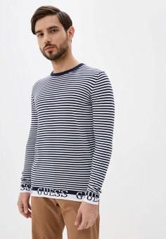 Джемпер, Guess Jeans, цвет: синий. Артикул: GU644EMHIFP7. Одежда / Джемперы, свитеры и кардиганы / Джемперы и пуловеры