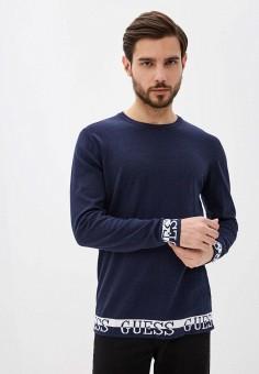 Джемпер, Guess Jeans, цвет: синий. Артикул: GU644EMHIFP9. Одежда / Джемперы, свитеры и кардиганы / Джемперы и пуловеры