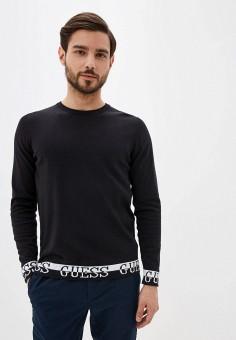Джемпер, Guess Jeans, цвет: черный. Артикул: GU644EMHIFQ0. Одежда / Джемперы, свитеры и кардиганы / Джемперы и пуловеры